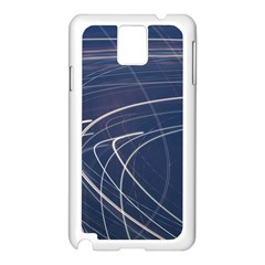 Light Movement Pattern Abstract Samsung Galaxy Note 3 N9005 Case (white)