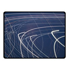 Light Movement Pattern Abstract Double Sided Fleece Blanket (small)