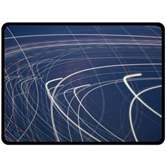 Light Movement Pattern Abstract Double Sided Fleece Blanket (large)