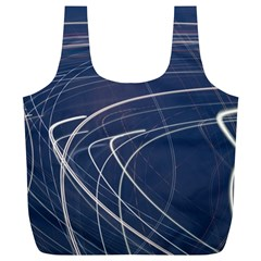 Light Movement Pattern Abstract Full Print Recycle Bags (l)