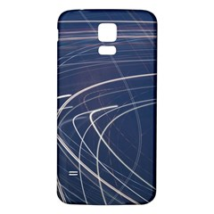 Light Movement Pattern Abstract Samsung Galaxy S5 Back Case (white)
