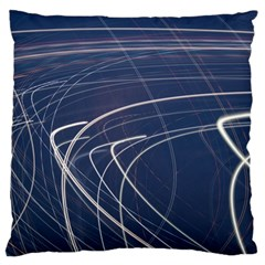 Light Movement Pattern Abstract Large Flano Cushion Case (two Sides)