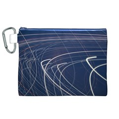 Light Movement Pattern Abstract Canvas Cosmetic Bag (xl)