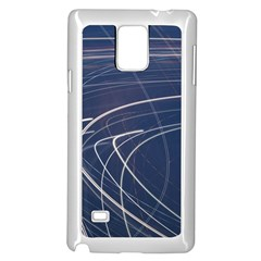 Light Movement Pattern Abstract Samsung Galaxy Note 4 Case (white)