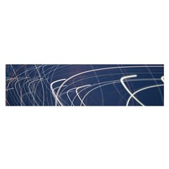 Light Movement Pattern Abstract Satin Scarf (oblong)