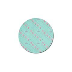 Love Flower Blue Background Texture Golf Ball Marker (10 pack)