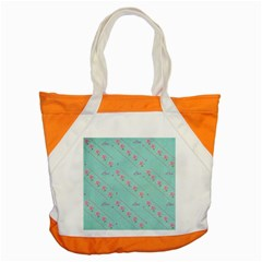 Love Flower Blue Background Texture Accent Tote Bag