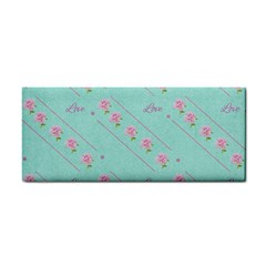 Love Flower Blue Background Texture Cosmetic Storage Cases