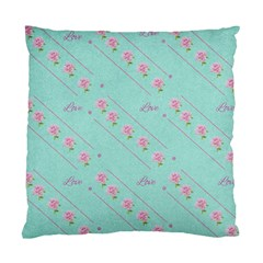 Love Flower Blue Background Texture Standard Cushion Case (two Sides)