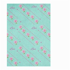 Love Flower Blue Background Texture Small Garden Flag (two Sides)