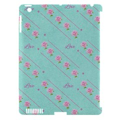 Love Flower Blue Background Texture Apple Ipad 3/4 Hardshell Case (compatible With Smart Cover)