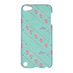 Love Flower Blue Background Texture Apple Ipod Touch 5 Hardshell Case