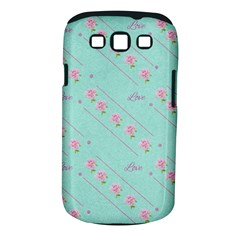 Love Flower Blue Background Texture Samsung Galaxy S Iii Classic Hardshell Case (pc+silicone)