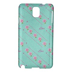 Love Flower Blue Background Texture Samsung Galaxy Note 3 N9005 Hardshell Case