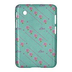 Love Flower Blue Background Texture Samsung Galaxy Tab 2 (7 ) P3100 Hardshell Case