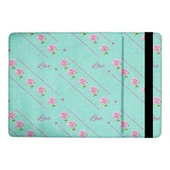 Love Flower Blue Background Texture Samsung Galaxy Tab Pro 10 1  Flip Case