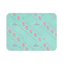 Love Flower Blue Background Texture Double Sided Flano Blanket (mini)