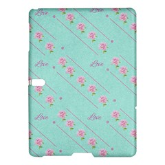 Love Flower Blue Background Texture Samsung Galaxy Tab S (10 5 ) Hardshell Case