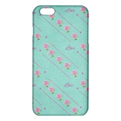 Love Flower Blue Background Texture Iphone 6 Plus/6s Plus Tpu Case