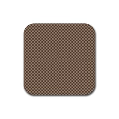 Pattern Background Diamonds Plaid Rubber Square Coaster (4 Pack)