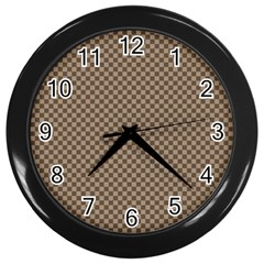 Pattern Background Diamonds Plaid Wall Clocks (black)