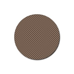 Pattern Background Diamonds Plaid Rubber Round Coaster (4 Pack)
