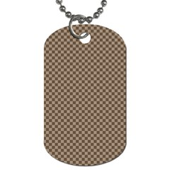 Pattern Background Diamonds Plaid Dog Tag (two Sides)