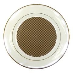 Pattern Background Diamonds Plaid Porcelain Plates