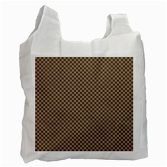 Pattern Background Diamonds Plaid Recycle Bag (two Side)