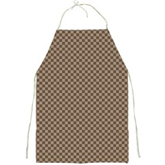 Pattern Background Diamonds Plaid Full Print Aprons