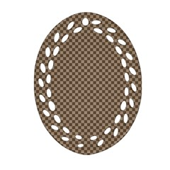 Pattern Background Diamonds Plaid Ornament (oval Filigree)