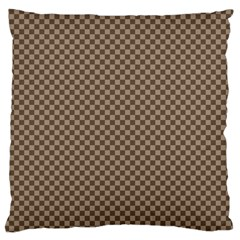 Pattern Background Diamonds Plaid Large Cushion Case (two Sides)