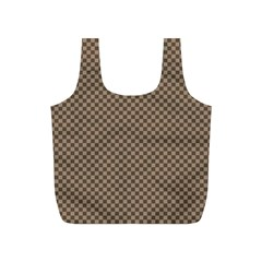 Pattern Background Diamonds Plaid Full Print Recycle Bags (s)