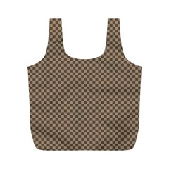 Pattern Background Diamonds Plaid Full Print Recycle Bags (m)