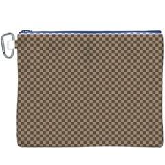 Pattern Background Diamonds Plaid Canvas Cosmetic Bag (xxxl)