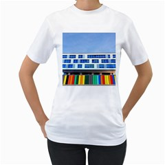 Office Building Women s T Shirt (white) (two Sided)
