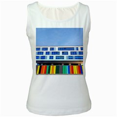 Office Building Women s White Tank Top