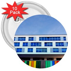 Office Building 3  Buttons (10 Pack)