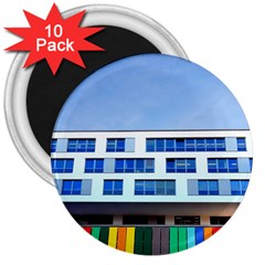 Office Building 3  Magnets (10 Pack)
