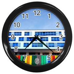 Office Building Wall Clocks (black)