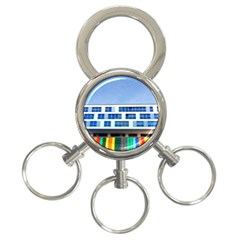 Office Building 3 Ring Key Chains