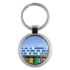 Office Building Key Chains (round)
