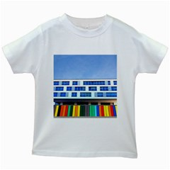 Office Building Kids White T Shirts