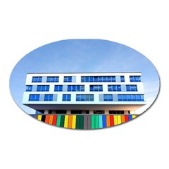 Office Building Oval Magnet