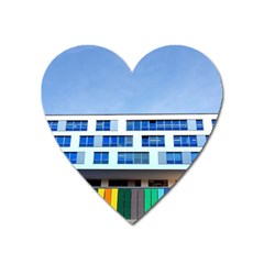 Office Building Heart Magnet