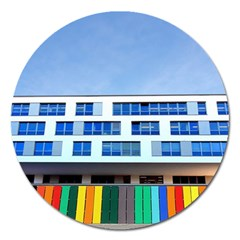 Office Building Magnet 5  (round)
