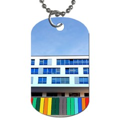 Office Building Dog Tag (one Side)