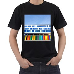 Office Building Men s T Shirt (black) (two Sided)