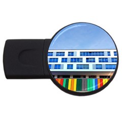 Office Building Usb Flash Drive Round (4 Gb)