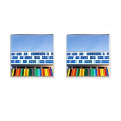 Office Building Cufflinks (square)